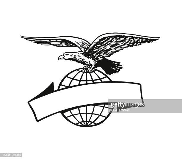 eagle and banner - eagle stock illustrations