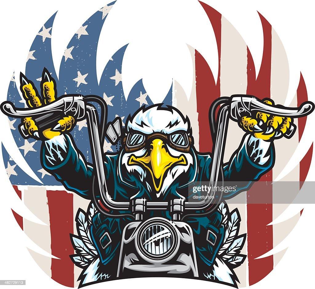 Eagle Biker Freedom