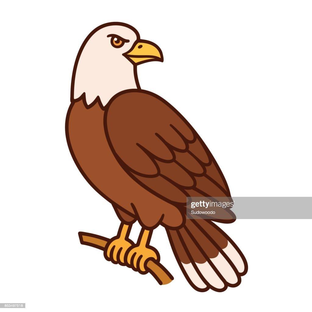 Eagle cartoon illustration