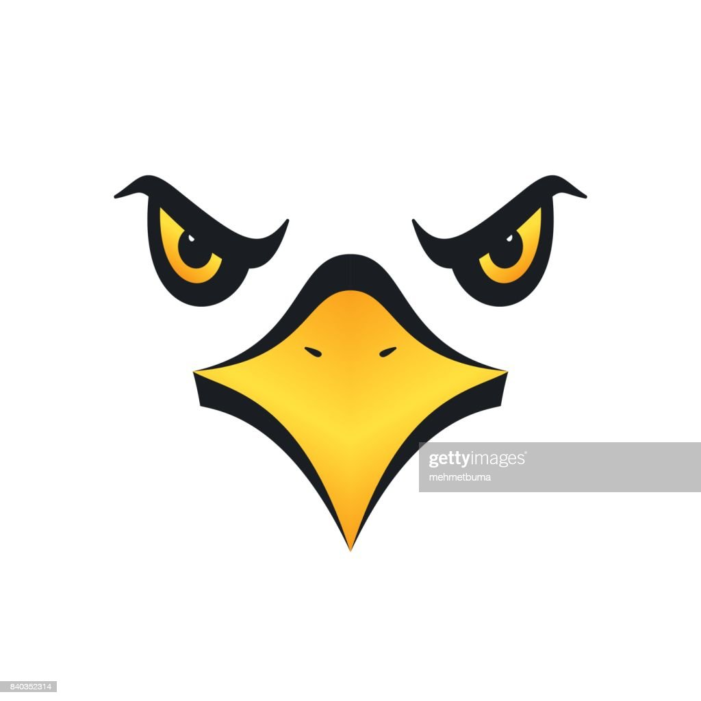 Eagle face, vector illustration