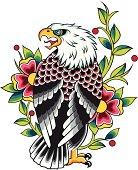 eagle flower design