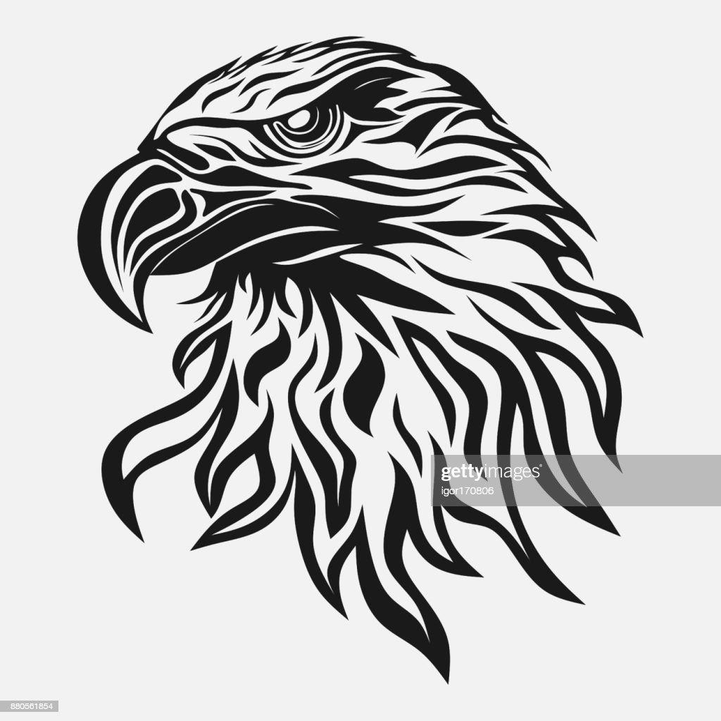 eagle head, abstract image, freedom symbol