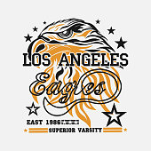 eagle head logo for t-shirt, sport wear typography