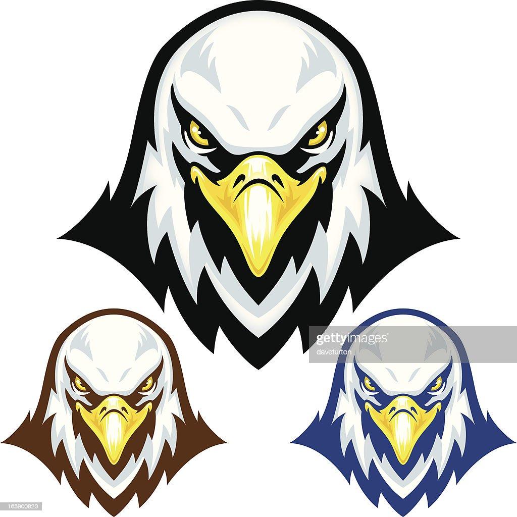 eagle head mascot vector art getty images