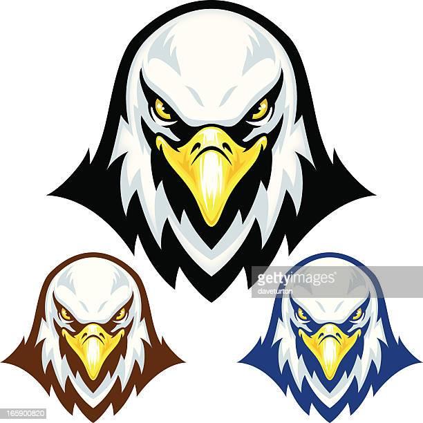 illustrations, cliparts, dessins animés et icônes de tête mascotte d'eagle - aigle