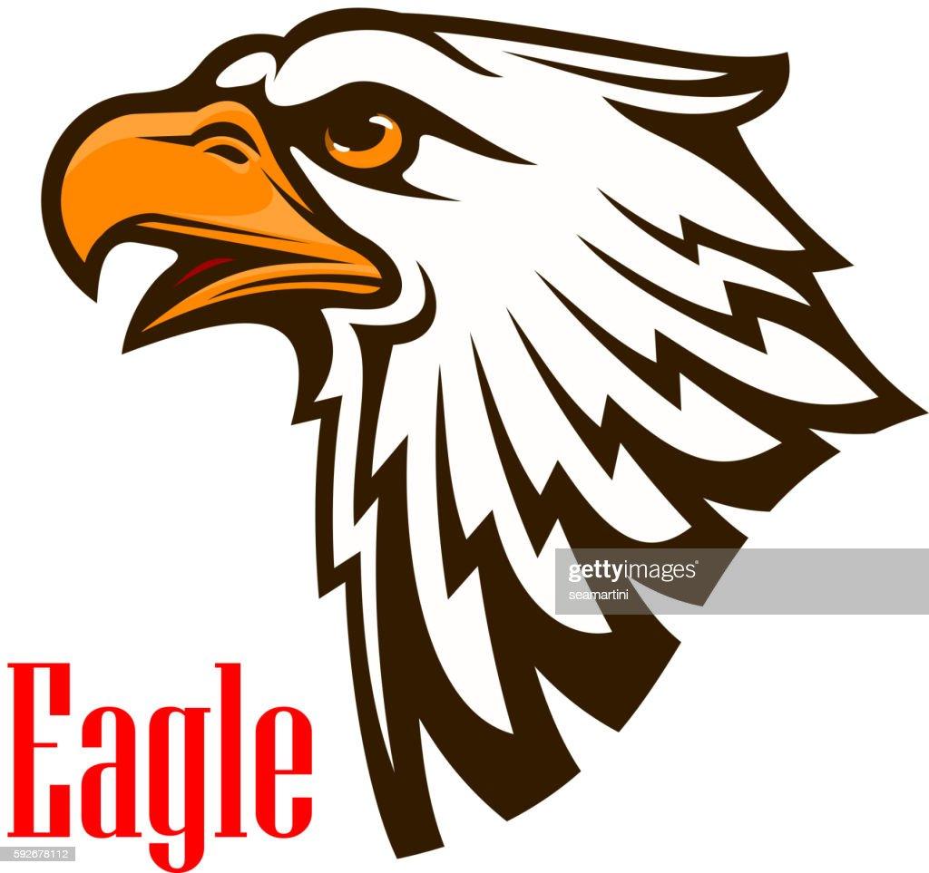 Eagle head vector mascot emblem