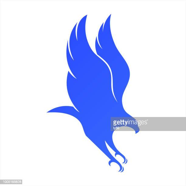 eagle icon - falcons stock illustrations, clip art, cartoons, & icons