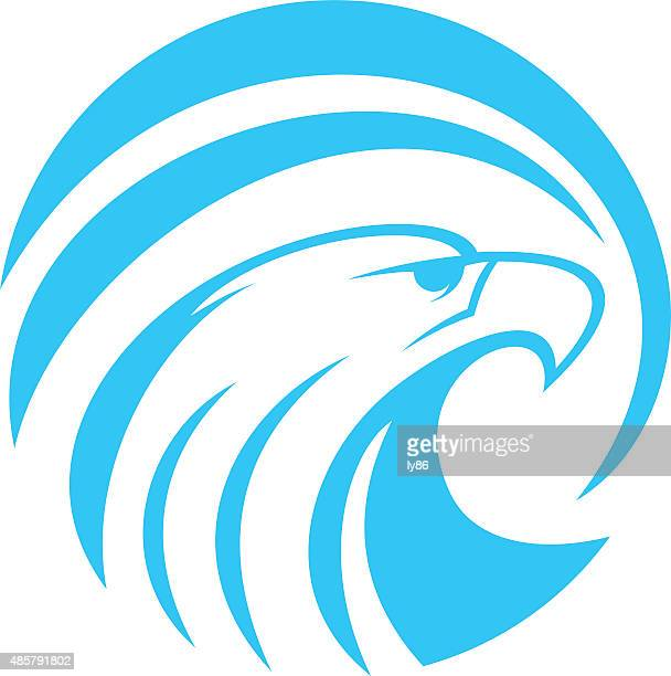 eagle icon - eagle bird stock illustrations, clip art, cartoons, & icons