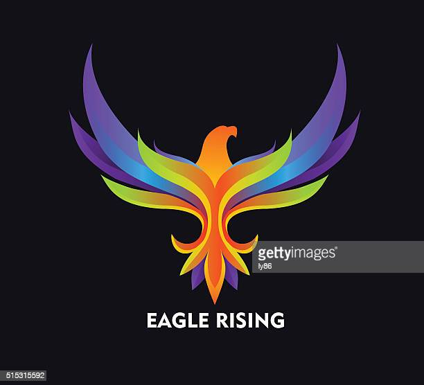 eagle icon - eagle flying stock illustrations, clip art, cartoons, & icons