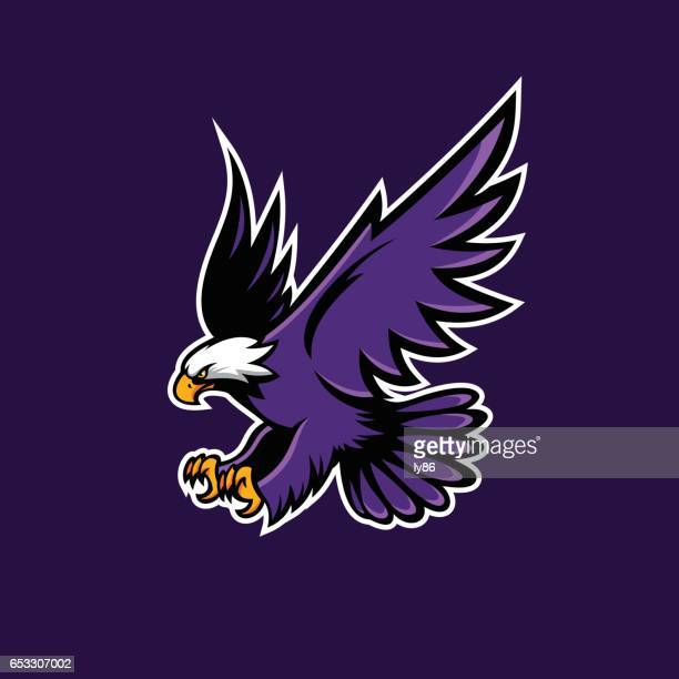 eagle icon - hawk bird stock illustrations, clip art, cartoons, & icons