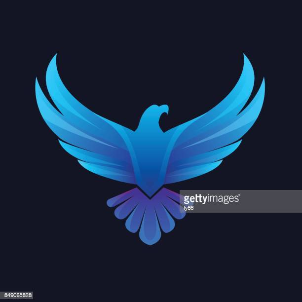 eagle icon - bird of prey stock illustrations, clip art, cartoons, & icons