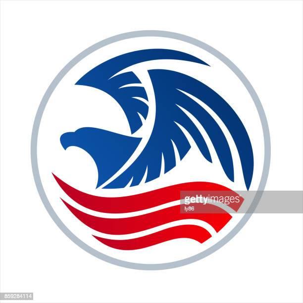 eagle icon - bald eagle stock illustrations
