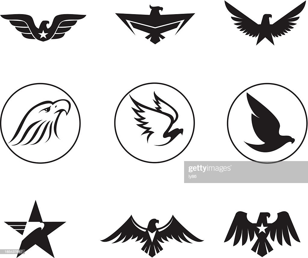 Eagle icons for war and design vector art getty images eagle icons for war and design vector art biocorpaavc Images
