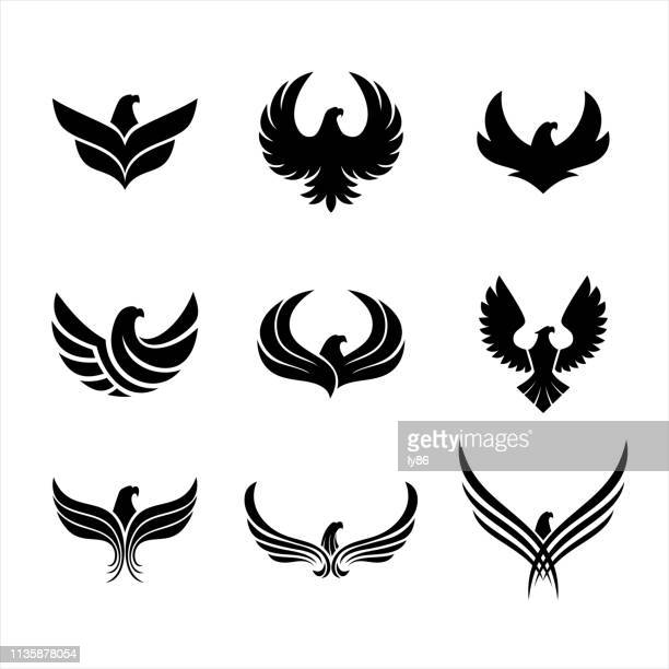 eagle icons - adler stock-grafiken, -clipart, -cartoons und -symbole