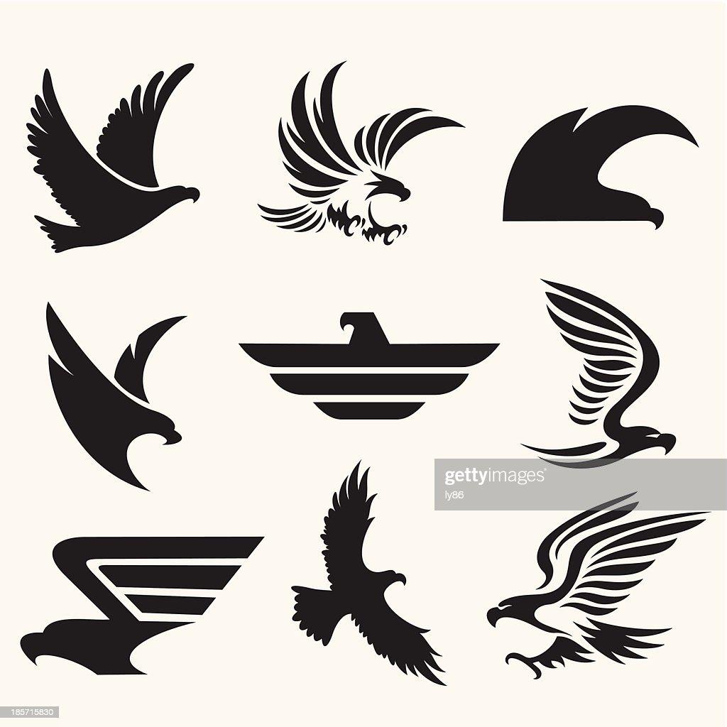 Eagle icons : Stock Illustration