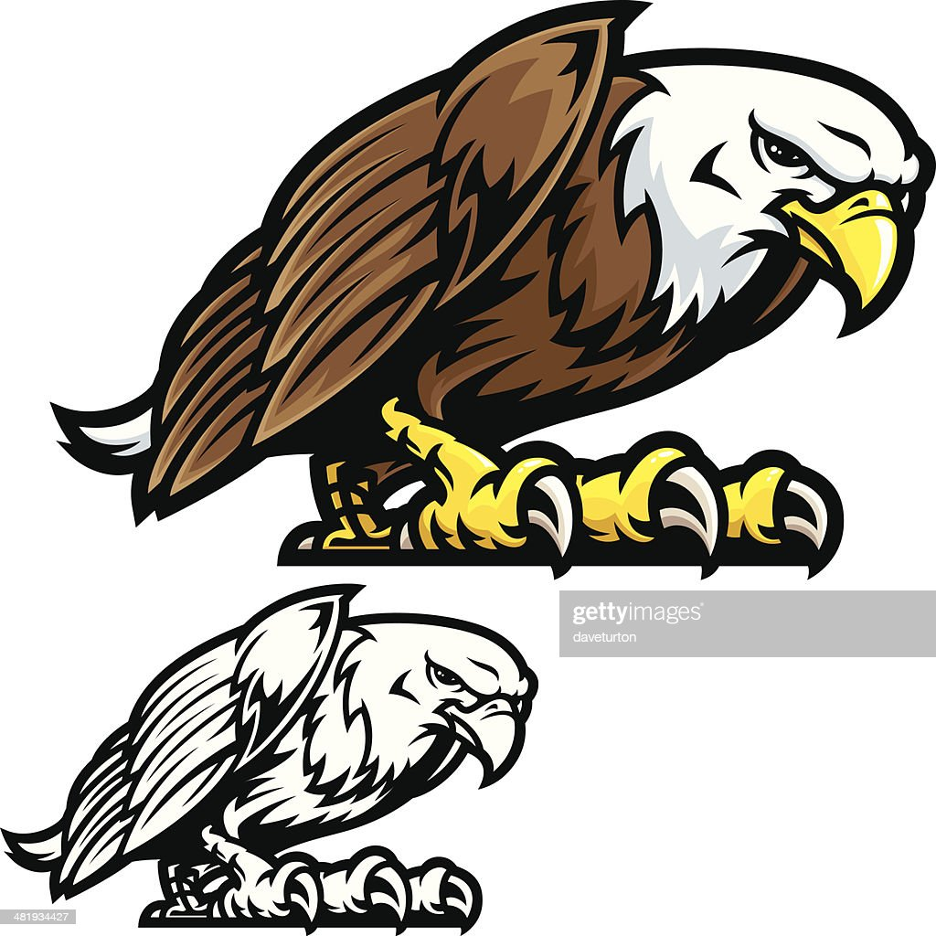 Eagle Mascot Fight Stance : stock illustration