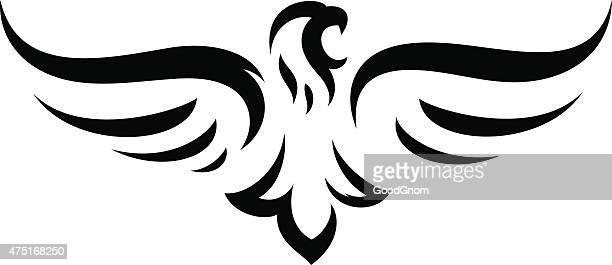 eagle mascot - hawk bird stock illustrations, clip art, cartoons, & icons