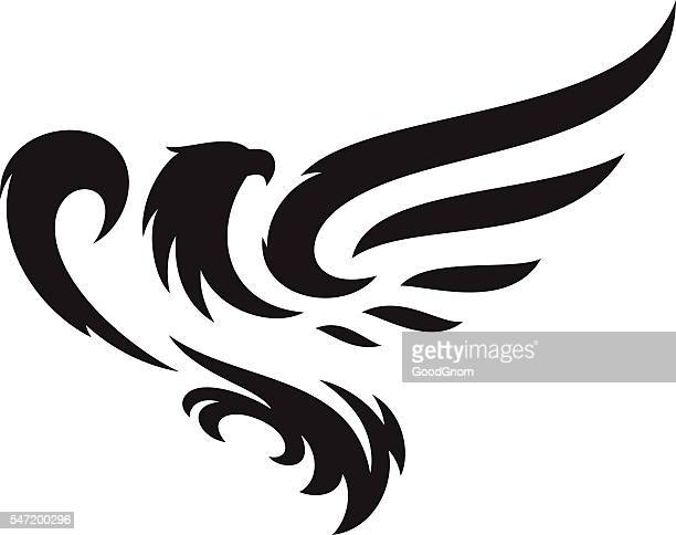eagle mascot - animal wing stock illustrations