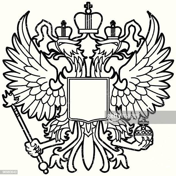 eagle of mother russia - russian culture stock illustrations