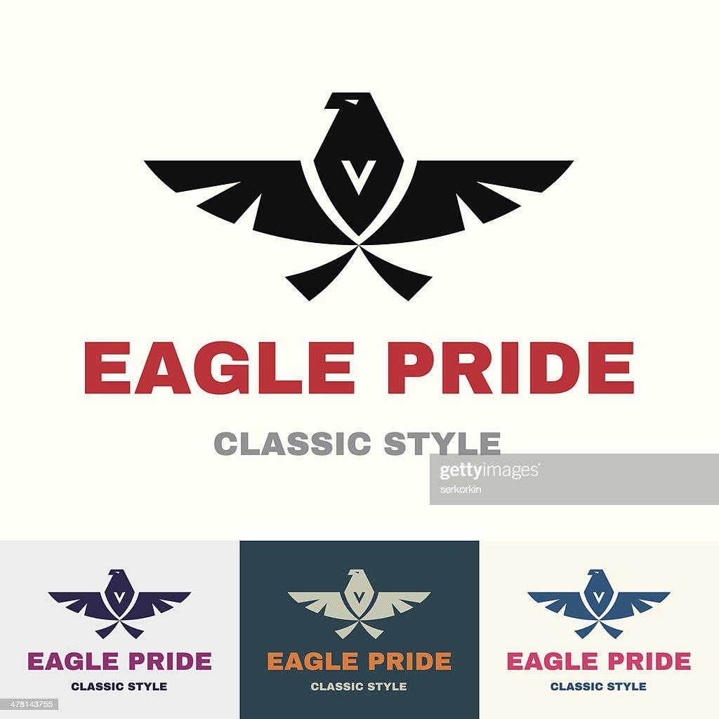 Eagle Pride - Logo in Classic Graphic Style