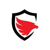 Eagle Protection Template Design Vector, Emblem, Design Concept, Creative Symbol, Icon