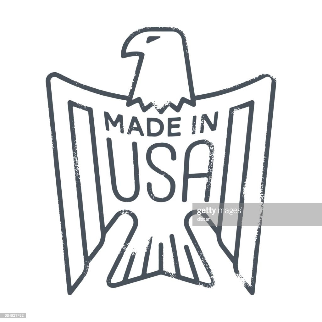 MADE IN USA - Eagle rubber Stamp