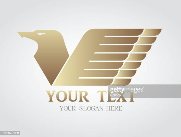 eagle symbol - finance and economy stock illustrations, clip art, cartoons, & icons