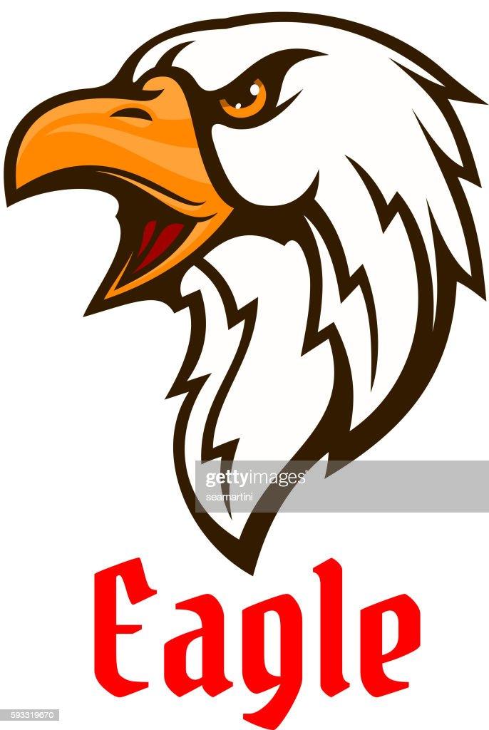 Eagle vector emblem. Hawk graphic symbol