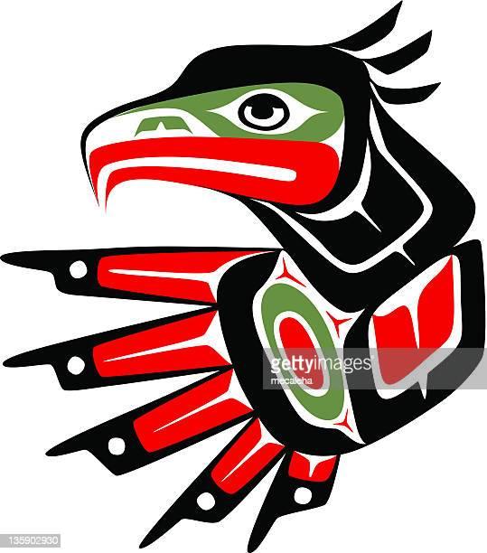 eagle - inuit stock illustrations