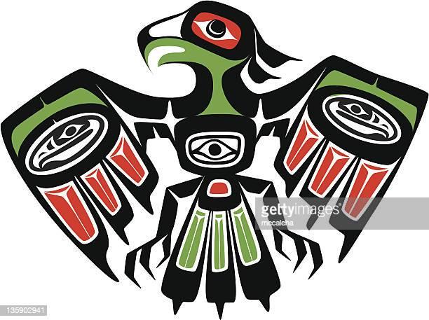 eagle - tribal art stock illustrations