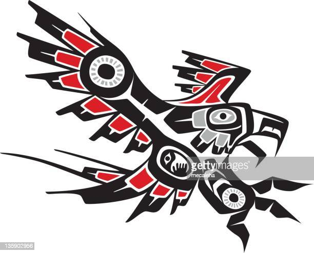eagle - indigenous north american culture stock illustrations, clip art, cartoons, & icons
