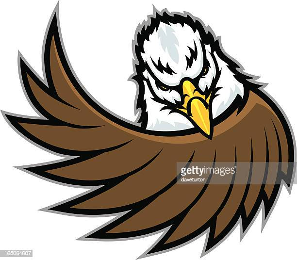 eagle wing - fighting stance stock illustrations, clip art, cartoons, & icons