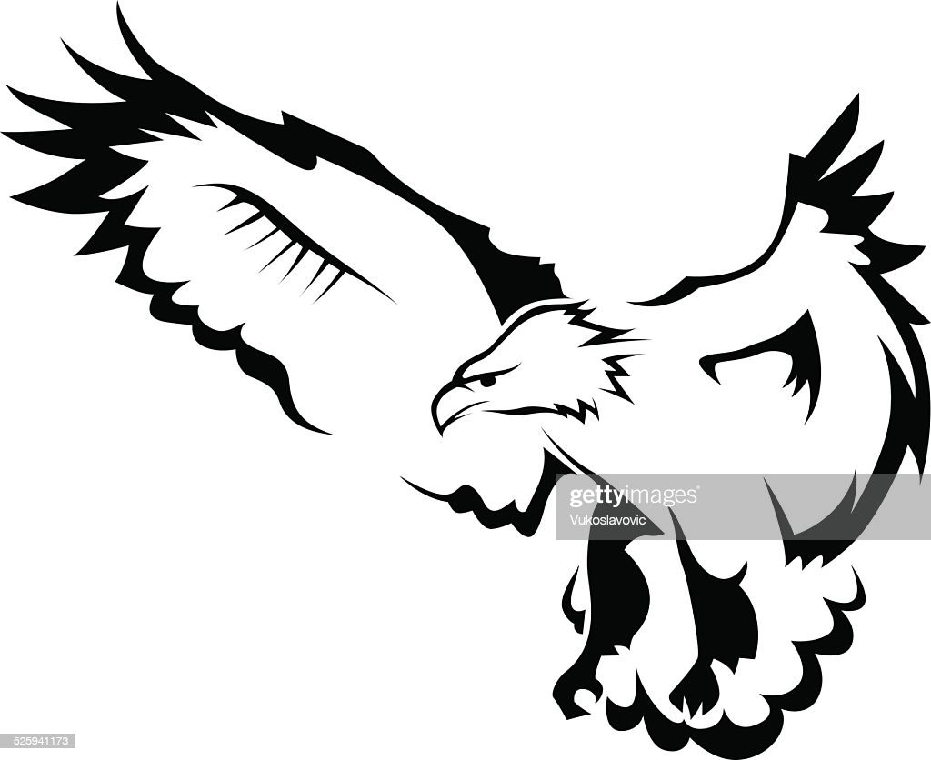 Eagle with open wings : stock illustration