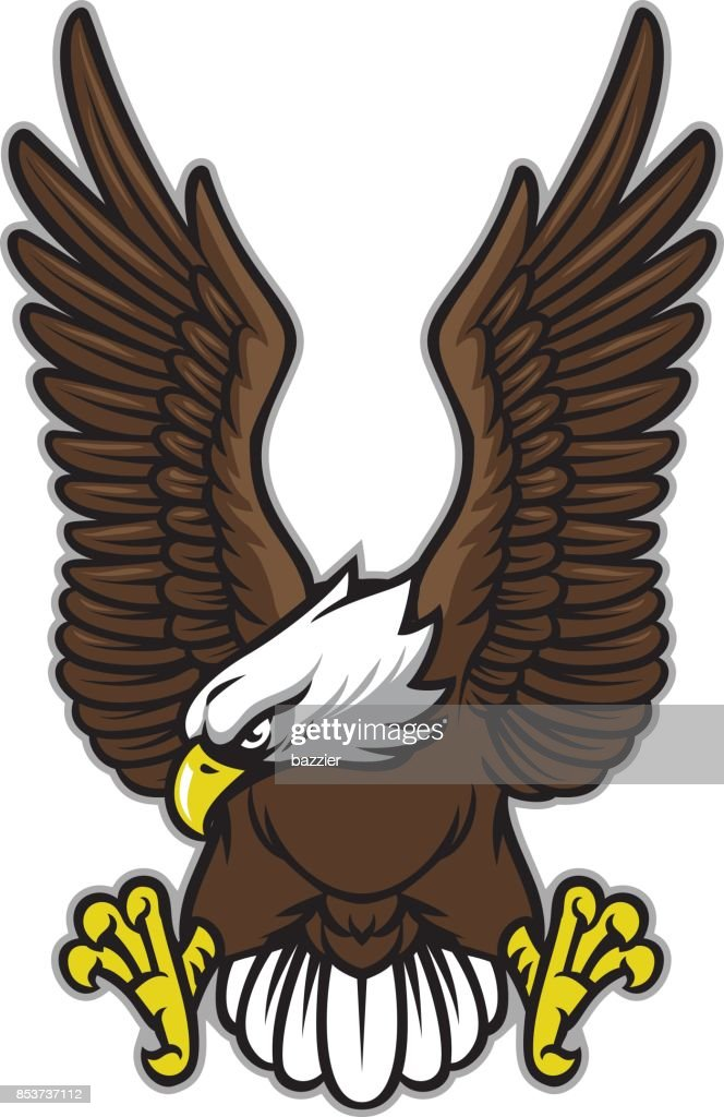 eagle with spreaded wings