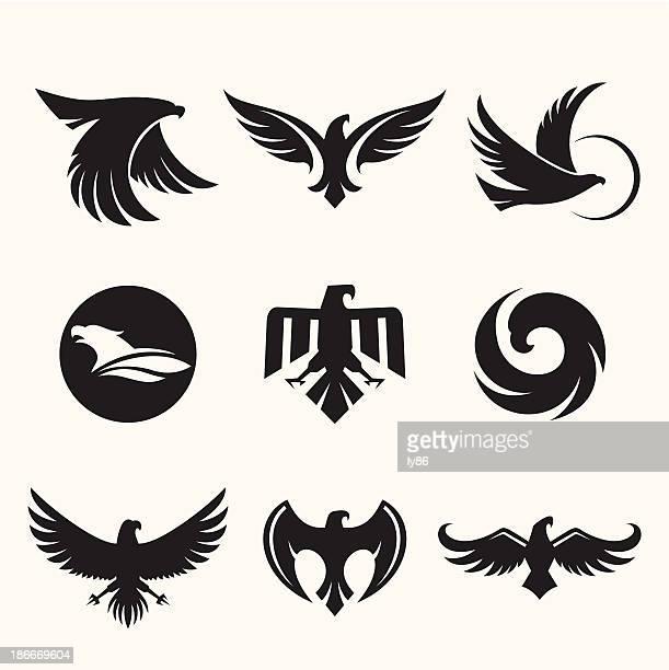 illustrations, cliparts, dessins animés et icônes de eagles design - aigle