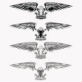eagles set vector design template