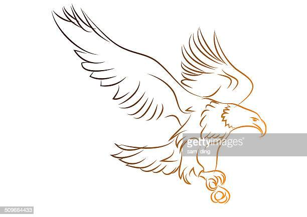 eagles - adler stock-grafiken, -clipart, -cartoons und -symbole