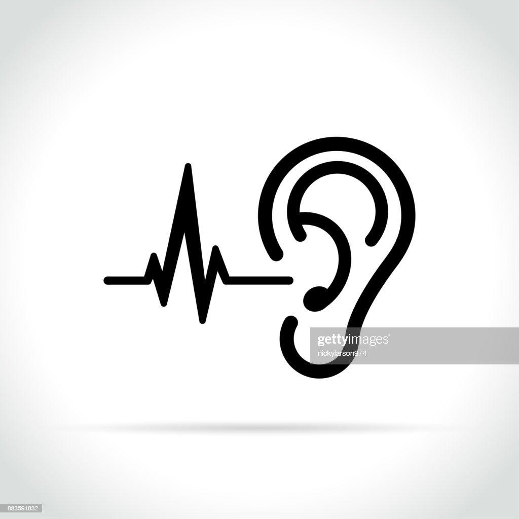ear icon on white background