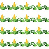 Ear of corn on a white background seamless pattern.