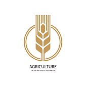 Ear of wheat - vector sign concept illustration