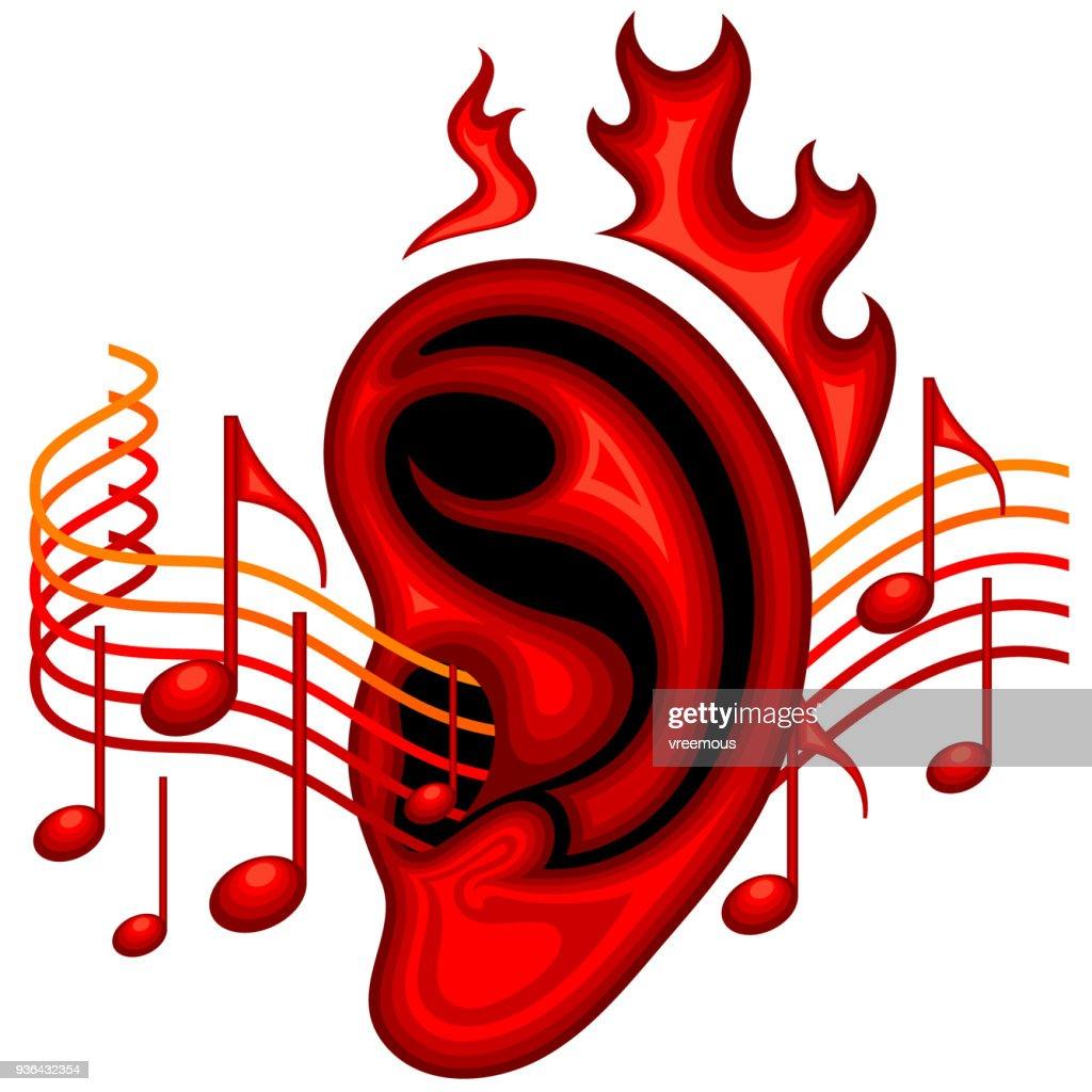 Ear on fire music symbol vector art getty images ear on fire music symbol biocorpaavc Images