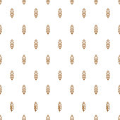 Ear seamless pattern with wheat for decoration natural product store