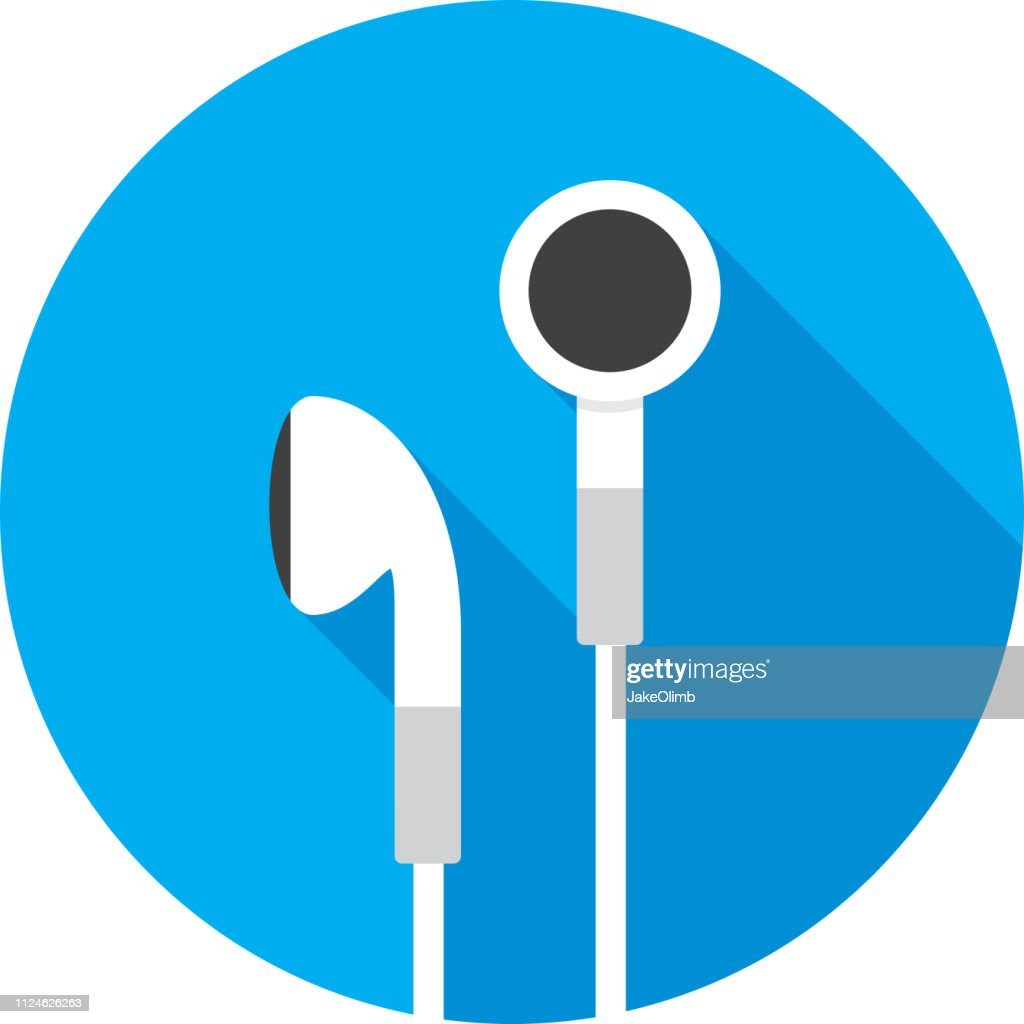 Earbuds Icon Flat : stock illustration