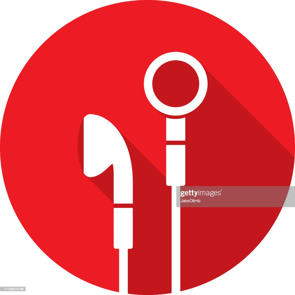 Earbuds Icon Silhouette : stock illustration