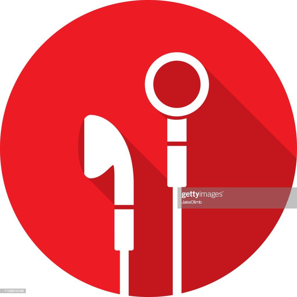 Silhueta do ícone dos earbuds : Ilustração