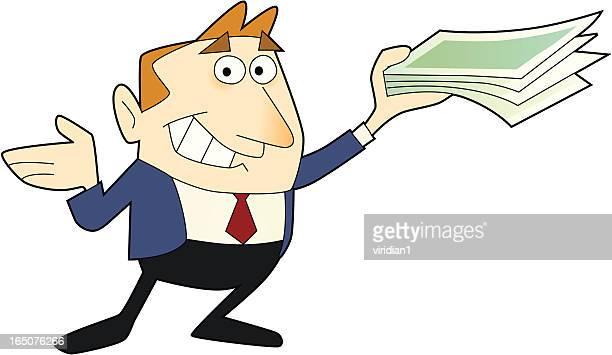 earn money - paycheck stock illustrations, clip art, cartoons, & icons