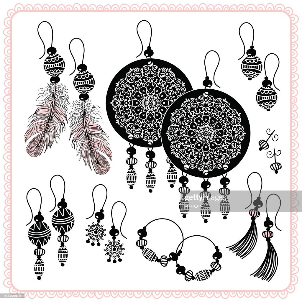 Earrings and accessories.