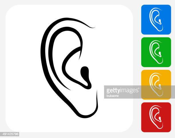 Ears Icon Flat Graphic Design
