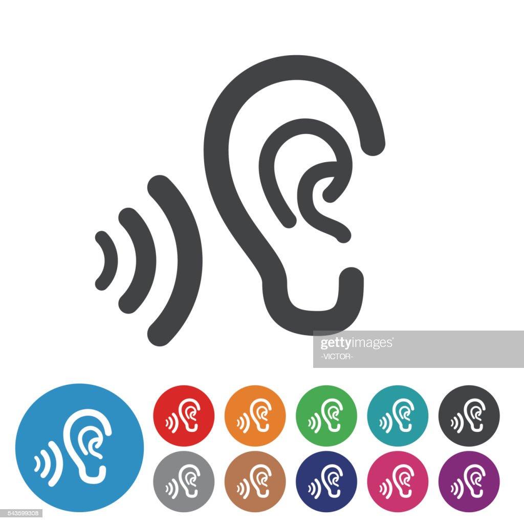 耳のアイコン-グラフィックアイコンシリーズ : ストックイラストレーション