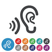 Ears Icons - Graphic Icon Series